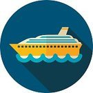 Beach,Summer,Vacations,Vector,Computer Icon,Flat,Sign,Commercial Dock,Cruise Ship,Ship,Passenger,Design,Symbol,Tourist,Water,Container,Transportation,Nautical Vessel,Sea,Journey,Travel