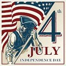 Freedom,Independence,Heroes,Retro Styled,USA,Flag,Armed Forces,Fourth of July,Star Shape,Old-fashioned,Cultures,American Culture,Day,Military,Patriotism,Illustration,Vector,US Memorial Day,Holiday - Event,July,Independence Day - Holiday,Blue,Red,White Color,Greeting