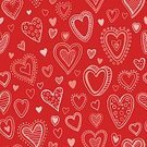 No People,Illustration,Seamless Pattern,Heart Shape,Vector,Pattern