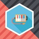 Illustration,Single Object,Art,Side View,Cute,Shape,Vector,Majestic,Musician,Cutting,Piano