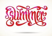 Cut Out,No People,Greeting Card,Ornate,Summer,Illustration,Stained,Symbol,Bright,Script,Season,Typescript,Vector,Bright,Text,Multi Colored,Red