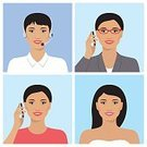 Adult,Women,,Mobile Phone,Businesswoman,Beauty,Headset,Headphones,Collection,Telephone,Beautiful People,Portable Information Device,,Illustration,People,Smart Phone,Human Body Part,Business Finance and Industry,Technology,Wireless Technology,Business,Call Center,Manager,Human Face,Hairstyle,Brown Hair