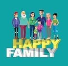 Child,Adult,Female Fashion,Children Smile,Togetherness,Men,Boys,Females,Women,Large,People,Large,Love,Lifestyles,Married,Parent,Father,Mother,Daughter,Sister,Grandparent,Grandmother,Grandfather,Family,Small,Fun,Illustration,Vector,Husband,Wife