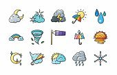 Prognosis,weather symbols,weather icons,Environment,Wind,Rain,Blizzard,Thunderstorm,Day,Night,Fog,Lightning,Snowflake,Weather,Thermometer,Illustration,Sleet,Meteorologist,Meteorology,Squall,Clip Art