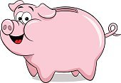 Symbol,Isolated,Coin,Pink Color,Box - Container,Piggy Bank,Cartoon,Finance,Savings,Currency,Coin Bank,Vector,Illustration,Wealth,Banking,Pig