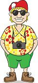Men,Illustration,People Traveling,Cultures,Travel,Vector,Cartoon,Shirt,Sunglasses,Smiling,Tourist,Camera - Photographic Equipment,Males,Adventure,Journey,Caricature,Cap,White Background,Tourism,Vacations,Isolated,One Person,People,Characters,Photographer