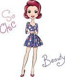Women,Girls,Cute,Fashion,Fashionable,Funky,Modern,Cool,Youth Culture,Mascot,Pop Art,Vector,Floral Pattern,Computer Graphic,Drawing - Art Product,Teenager,Charming,Caucasian Ethnicity,Teenage Girls,Dress,Painted Image,Cartoon,Happiness,Art,Beauty,Fun,People,Females,Beautiful,T-Shirt,Springtime,Red,Flower,Illustration,Love,Scribble,Romance,Textile,Hipster
