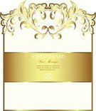 Old-fashioned,Antique,Vector,Insignia,Gold Colored,Ornate,Luxury,Label,Decoration