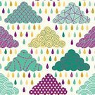 Vector,Summer,Wallpaper Pattern,Green Color,Autumn,Cloud - Sky,Saturated Color