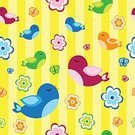 Child,Characters,Color Image,Happiness,Cheerful,Animal,Bird,Chicken - Bird,Backgrounds,Fun,Cute,Illustration,Baby Chicken,Vector,Young Bird,Background,Birdie,Seamless Pattern