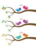 Child,Characters,Happiness,Cheerful,Bird,Tree,Branch,Backgrounds,Fun,Cute,Illustration,Vector,Background,Birdie,Multi Colored