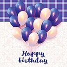 Celebration,Design,Blue,Backgrounds,Hot Air Balloon,Birthday