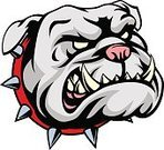 Pets,Animal,Displeased,Vector,Cruel,Illustration,Spiked,Aggression,Characters,Pet Collar,Toughness,Mascot,Dog,Isolated,Computer Graphic,Sport,Anger,Cartoon,Collar,Canine,Bulldog,White,Horror,Sign,Clip Art