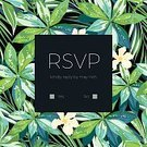 Greeting Card,Tropical Climate,Invitation,Vibrant Color,Backgrounds,Floral Pattern,Wedding,Pattern,Summer,template