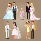 Fashion,Love,Men,Wedding,Women,Wedding Dress,Family,Vector,Backgrounds,Wife,Bridegroom,Married,Tail Coat,Cultures,Computer Graphic,Invitation,Happy Bride,Celebration,Husband