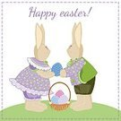 Rabbit - Animal,Holiday,Springtime,Vector,Fun,handcrafted,Tilda,Cute,Easter,Luke Young,Cultures,Sewing,Romance,Nature,Illustration,Playful,Joy,Cheerful,Smiling