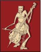 Cellist,Cello,Musician,Playing,Music,Classical Music,Men,Pencil Drawing,Equipment,Isolated,Classical Concert,Illustrations And Vector Art,Arts And Entertainment,Drawing - Art Product,Music,Isolated Objects,Isolated-Background Objects,Retro Revival,Vector,Ilustration,Musical Instrument