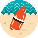 Summer,Vacations,Vector,Torpedo,Beach,Computer Icon,Assistance,Urgency,Symbol,Lifeguard,Buoy,Nautical Vessel,Safety,Sign,SOS,Sea,Floating On Water,Security,Rescue,Protection,Survival,Rope,Life Belt