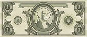 Currency,Dollar,One Dollar Bill,US Paper Currency,Paper Currency,Vector,Ilustration,US Currency,Finance,Business Symbols/Metaphors,Illustrations And Vector Art,Business