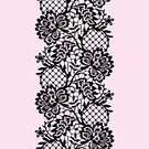 Vector,Pattern,Seamless,Backgrounds,Black Color,Floral Pattern,Classic,Monochrome,Pink Color,Vertical,Silhouette