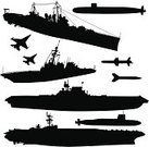 Submarine,Military Ship,Battleship,Navy,Silhouette,Warship,Military,Aircraft Carrier,Nautical Vessel,Carrying,Air Vehicle,Vector,Missile,World War II,War,Airplane,Destroyer,Armed Forces,Back Lit,Fighter Plane,Battle,Bomb,Old,Weapon,Outline,Old-fashioned,Ilustration,Modern,Military Airplane,Hydrogen Bomb,Jet - Band,Sea,History,Marines,Transportation,Bombing,Conflict,Aerial View,Sailing,News Event,nucular,Flying,Historical War Event,Vector Cartoons,graphic element,Mode of Transport,Design Element,Tracing,Obsolete,Sea Travel,Supercarrier,Vector Ornaments,Illustrations And Vector Art