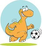 Sport,Athlete,Ball,Cartoon,Clip Art,Soccer,Apatosaur,Prehistoric Era,Team Sport,Recreational Pursuit,Kicking,Cheerful,Animal,Dinosaur,Relaxation,Jurassic,Leisure Activity,Reptile,Vector,Happiness,Smiling,Exercising,Extinct,Football Player,Humor,Fun,Combat Sport