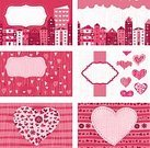 Colors,Color Image,Doodle,Backgrounds,Red,Textured,Set,Retro Styled,Abstract,Heart Shape,Seamless,Style,Town,Repetition,Pattern,Illustration,Love,Package,Vector
