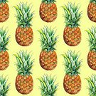 Watercolor Painting,Watercolor Paints,Art,Pineapple,Fruit,Pattern,Seamless,Painted Image