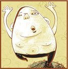 Overweight,Running,Men,Textured Effect,Reaching,Abstract,Jumping,Shirtless,Drawing - Art Product,Vector,Ilustration