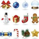 Humor,Silhouette,No People,Symbol,Sweet Food,Candy,Ball,Bell,Christmas,Gold,Paper,Holly,Season,Winter,Snowflake,Decoration,Greeting Card,Tied Bow,Snowman,Poster,Illustration,New Year,Gingerbread Cake,Group Of Objects,Vector,Holiday - Event,New Year's Day,Blue,Gold Colored
