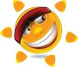 Cheerful,Vector,Sunglasses,Cartoon,Human Face,Illustration,Summer,Bright,Cool,Orange Color,Facial Expression,Shiny,Joy,Sun,Smiling,Characters,Smiley Face,Laughing,Design,Design Element,Computer Graphic,Light - Natural Phenomenon,Eyeglasses,Heat - Temperature,Color Image,Cute,Yellow,Symbol,Fun