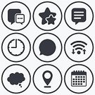 Symbol,Label,Token,Sign,Single Word,Thinking,Talking,Speech,Badge,Clock,Timer,Rated,Wireless Technology,Calendar,Application Software,Vector,Shape