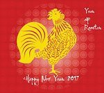 New,Year,Modern,Backgrounds,Greeting,2017,Bird,Decoration,Rooster