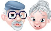 Women,Illustration,Characters,Happiness,Men,Caricature,Retirement,Married,Smiling,Husband,Two People,One Person,White Background,Human Age,Family,Cute,Togetherness,Female Likeness,Vector,Cheerful,Grandfather,Two Parents,Isolated,Grandmother,Senior Adult,Love,Cartoon,Mature Adult,Wife,Grandparent,Eyeglasses,Portrait,People,Aging Process,Females,Grandparents Day,Adult,Males