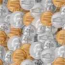 Coin,Currency,Nickel,Penny,Dime,US Coin,Quarter,Seamless,Vector,Pattern,Backgrounds,Finance,Ilustration,Vector Backgrounds,Business,Illustrations And Vector Art