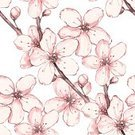 Pattern,Japan,Flower,Floral Pattern,Springtime,Leaf,Colors,Bud,Petal,Cherry,Backgrounds,Nature,Painted Image,Sketch,Flowerbed,Watercolor Paints,Cherry Blossom,Elegance,Raster Graphics,Asia,Drawing - Art Product,Illustration,Pink Color,Summer,Textile,Season,Watercolor Painting,Beauty,Plant,Blossom,Modern,Seamless