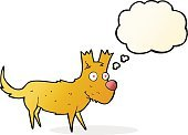 Cheerful,Drawing - Activity,Doodle,Bizarre,Clip Art,Illustration,Thought Bubble,Cute,Small,Vector,freehand,Dog