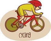 Summer,Boys,Child,Symbol,People,Cycling,Vector,Sport