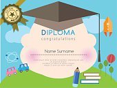 Cute,Coupon,Illustration,Gift,Celebration,Success,template,Certificate,Frame,Backgrounds,Award,Admiration,Diploma,Paper,Colors,Pencil,Vector,Preschool Building,Document,Decoration,Greeting,Printout,Achievement,Horizontal,Boys,Ornate,Graduation,Child,Small,Elementary Age,Invitation,Multi Colored,Education,Design