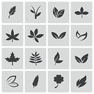 Silhouette,No People,Symbol,Sign,Environment,Nature,Social Issues,Botany,Pollution,Plant,Factory,Shape,Tree,Leaf,Computer Icon,Arranging,Illustration,Vector,Icon Set,Set