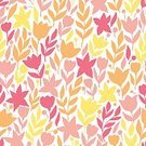 Textile,Summer,Fashion,Illustration,Cute,Seamless,Ornate,Love,Romance,Leaf,Pattern,Vector,Curled Up,Repetition,Doodle,Branch,Decoration,Abstract,Backgrounds,Petal,Flower Head,Computer Graphic,Nature