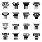 Greece,No People,Computer Graphics,Sign,Ornate,Roman,Illustration,Symbol,Computer Graphic,History,Architectural Column,Vector,Architecture