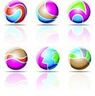 Sign,Three-dimensional Shape,Circle,Sphere,Abstract,Ball,Symbol,Design Element,Computer Icon,Design,Geometry,Shape,Vector,Computer Graphic,Sea,Geometric Shape,Beach Ball,Striped,Curve,Purple,Blue,Shiny,Multi Colored,Green Color,Orange Color,Brown,Drawing - Art Product,Style,Reflection,Turquoise,Set,Elegance,Ilustration,Vector Icons,Vector Cartoons,Isolated-Background Objects,Isolated Objects,Magenta,Illustrations And Vector Art