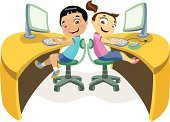 Computer,Child,Cartoon,Classroom,Little Boys,Technology,Little Girls,Teenage Girls,Learning,Vector,Ilustration,Application Software,Futuristic,Thinking,Computer Monitor,chidren,Vitality,Humor,Computer Software,Team,Cheerful,Happiness,Clip Art,Forecasting,Activity,Computer Keyboard,Electronics Industry,Desktop PC,Equipment,Computer Mouse,Applying,Surprise,Teamwork,Input Device,Invention,Modern,Success,Computer Graphic,Satisfaction,Smiling,Pink Color,Technology,Enjoyment,Illustrations And Vector Art,Blue,Leisure Activity,People,Computers