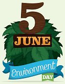 Nature,Green Color,Organic,Responsibility,Care,Protection,Environmental Conservation,Cartoon,Poster,Beauty,Calendar Date,Vector,Life,June,Global Communications,Celebration,Alertness,Illustration,Leaf,Day,Environment,Plant,Bush,Ribbon,Wood - Material,Postcard,Earth,Sustainable Resources,Typescript,Biodiversity,Wealth,Holiday,Memorial,Global