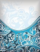 Liquid,Flowing Water,Surf,Swirl,Curled Up,Scroll Shape,Sea,Blue,Backgrounds,Curve,Illustration,Vector,Design,Abstract