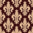 Majestic,Luxury,Retro Styled,Old,Symbol,Medieval,Victorian Style,Design,Old,Old-fashioned,French Culture,Flower,Leaf,Petal,Lily,Decoration,Backgrounds,Tile,Spinning,Ornate,Illustration,Obsolete,Antique,Royalty,Vector,Backdrop,Swirl,Embellishment,Arts Culture and Entertainment,Seamless Pattern,Red,Pattern,Textile,Beige,Floral Pattern,Textured,Tracery,Maroon,Flourish
