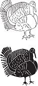 No People,Animal,Bird,Poultry,Illustration,Male Animal,Vector,Black Color,White Background