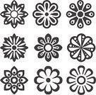 268399,Abstract,No People,Flower,Art And Craft,Plant,Art,Collection,Flowerbed,Summer,Illustration,Nature,Leaf,Icon Set,Computer Icon,Single Flower,Aubusson,Decoration,Rose - Flower,Blossom,Decor,Vector,Springtime,Design,Pattern,Design Element