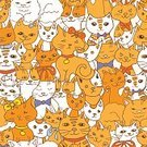 Characters,Animal,Animal Markings,Snout,Family,Domestic Cat,Persian Cat,Backgrounds,Cute,Illustration,Medallion,Sketch,Kitten,Vector,Pets,Background,Seamless Pattern,White Color,Pattern,Fluffy